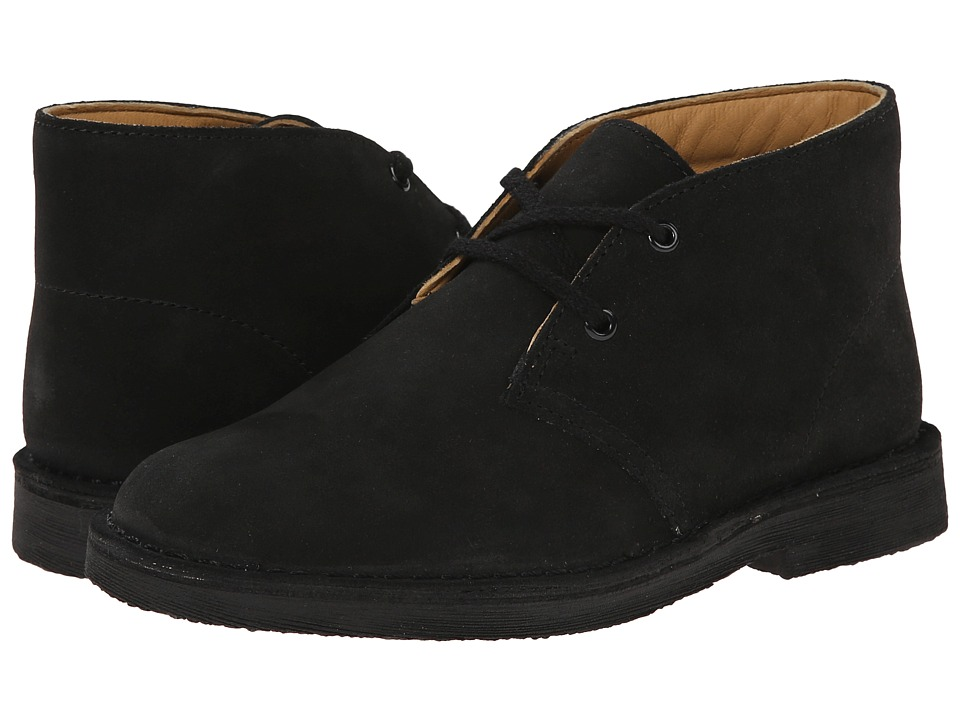 Clarks Kids - Desert Boot (Little Kid/Big Kid) (Black Suede) Boys Shoes