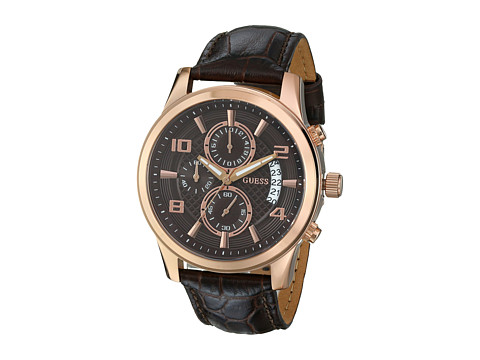 GUESS - U0076G4 (Brown/Rose Gold) Watches