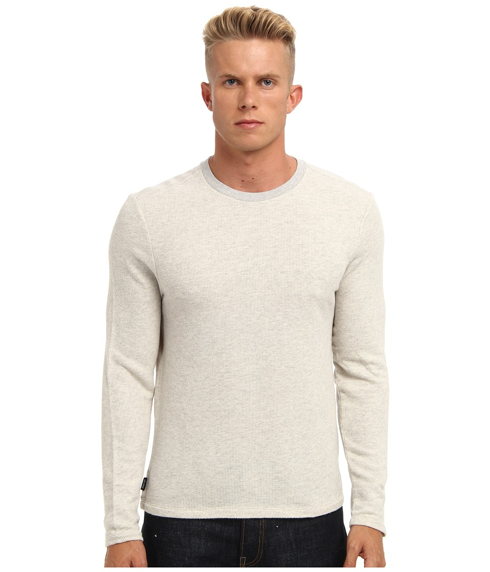 Jack Spade - Terry Crewneck Shirt (Grey) Men's Long Sleeve Pullover