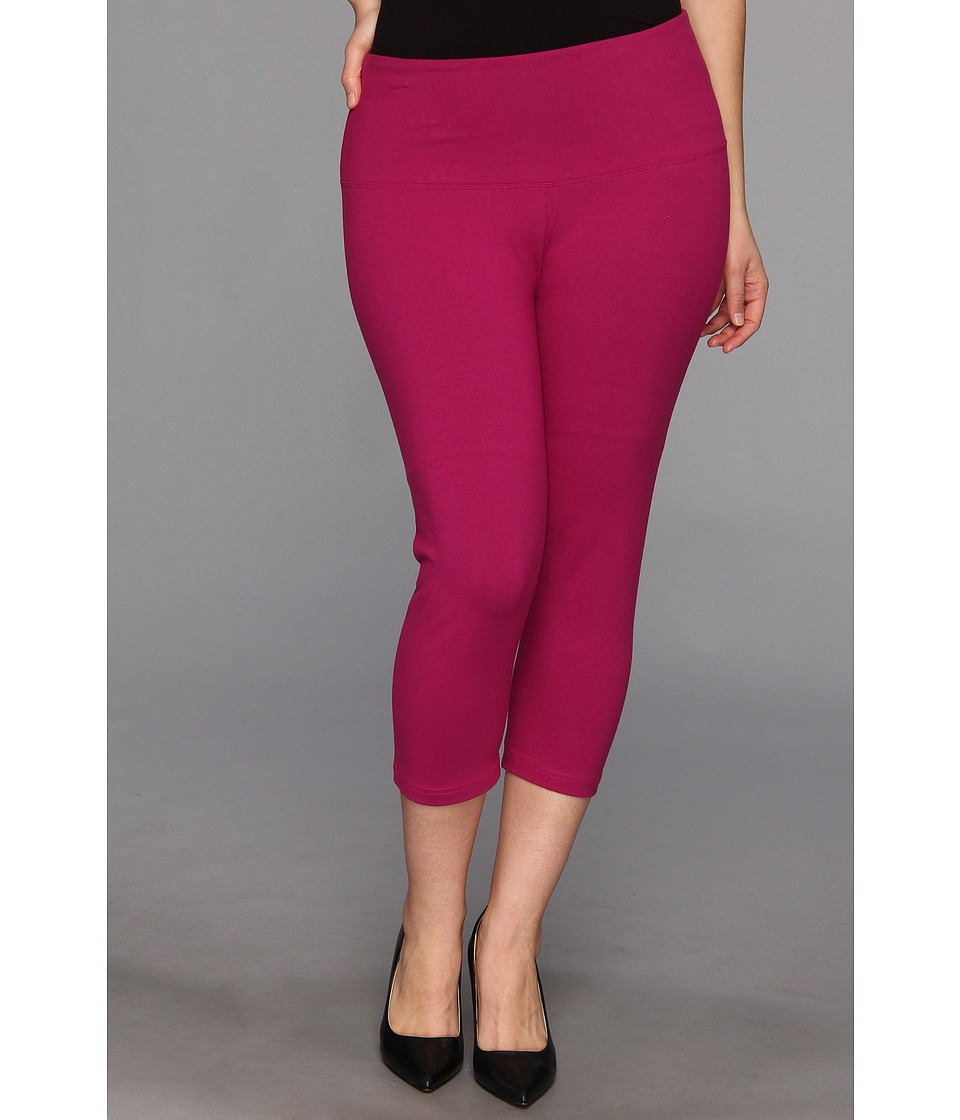 Lysse - Plus Size Cotton Capri 12150 (Rouge) Women's Capri