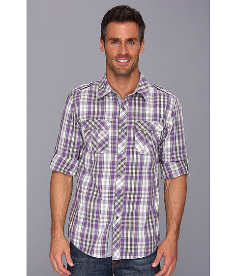 Request - Tommy Woven Shirt (Purple) Men's Long Sleeve Button Up