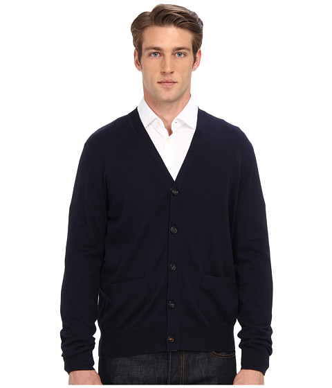 Jack Spade - Irving Cotton-Cashmere Cardigan (Navy) Men's Sweater
