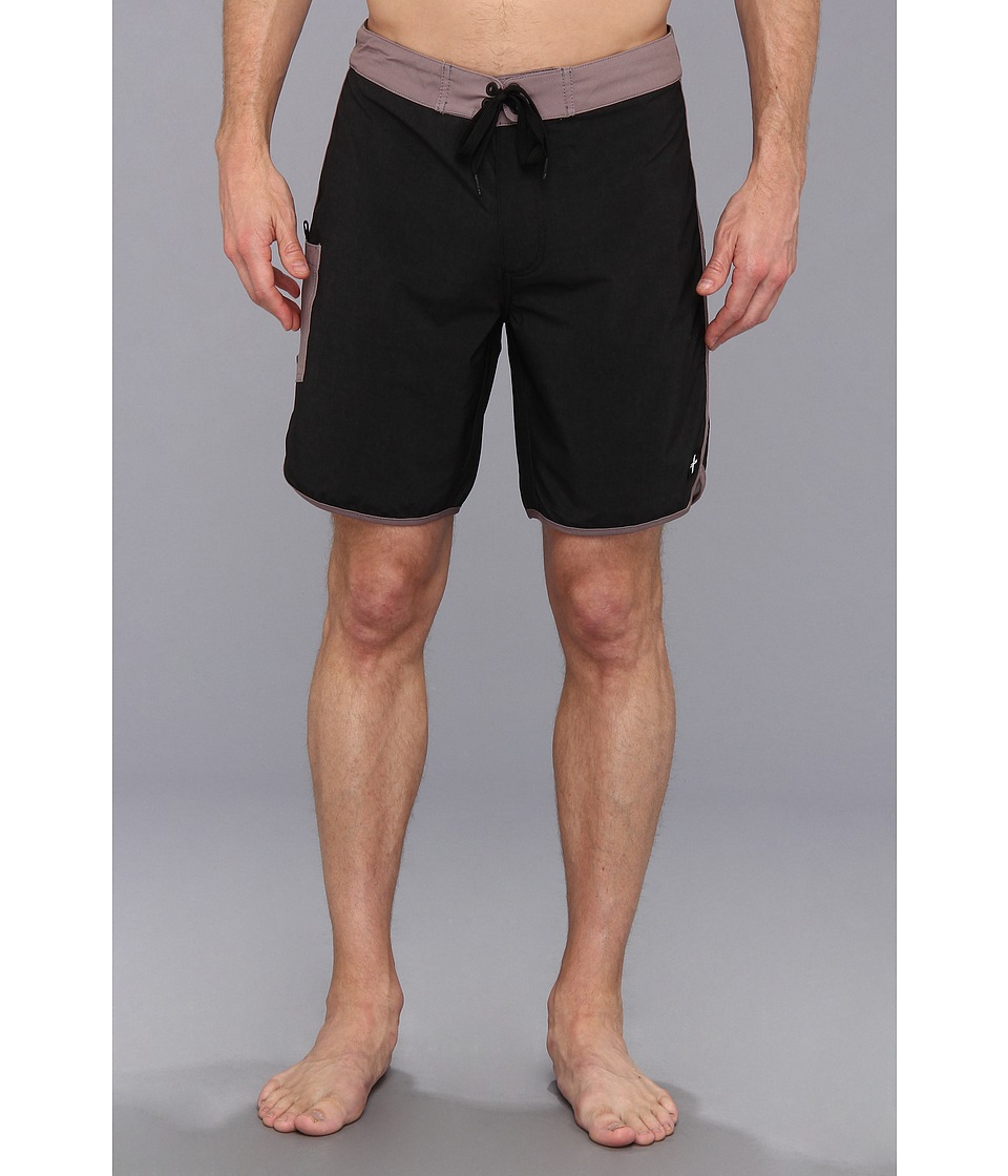 Tavik - Standard Boardshort (Black) Men
