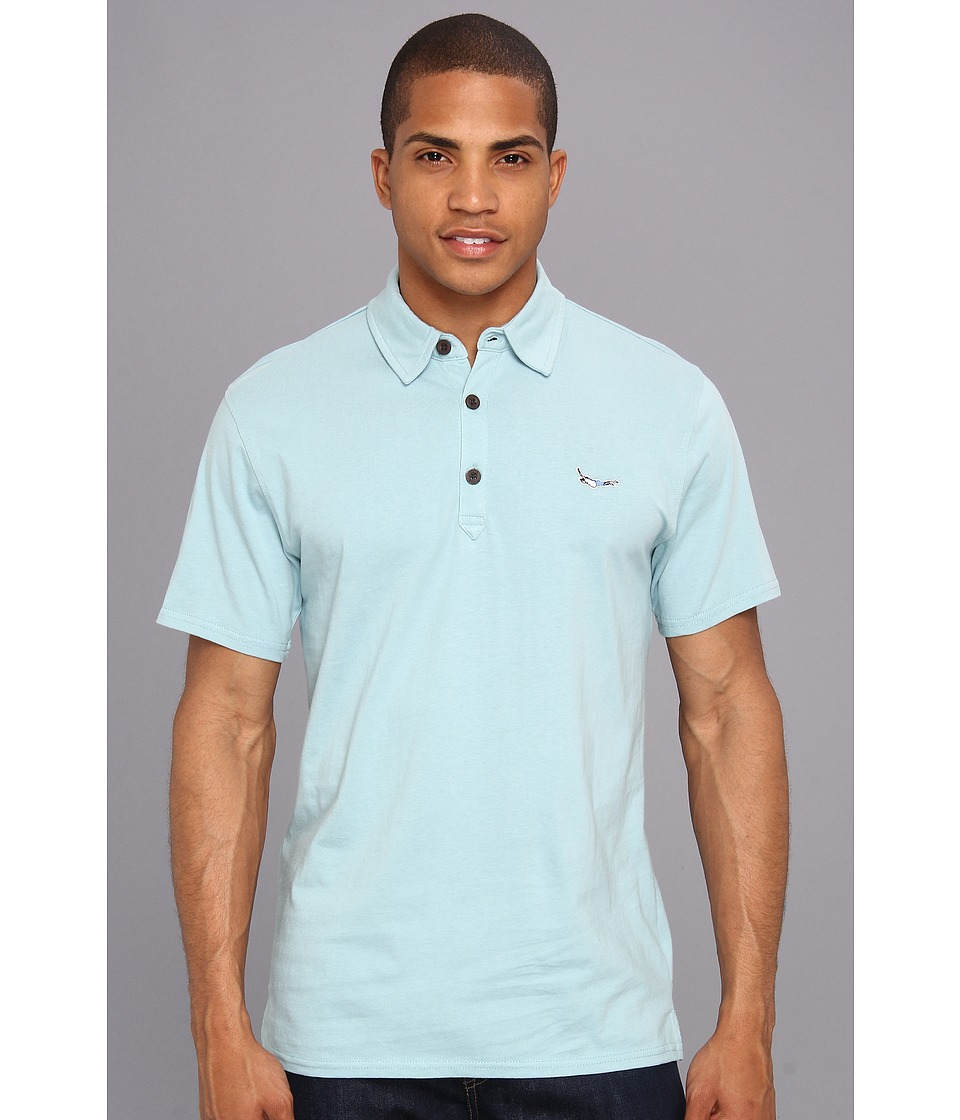 Tavik - Belly Flop Polo (Blue) Men's Short Sleeve Pullover