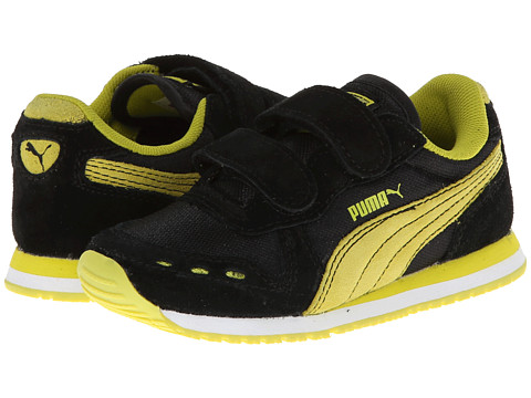 Puma Kids - Cabana Racer NM V Kids (Toddler/Little Kid/Big Kid) (Black/Sulphur Spring) Boys Shoes