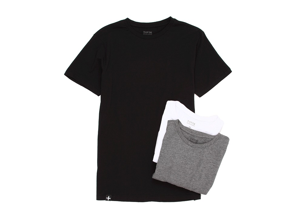 Tavik - 3 Pack Tees (Multi) Men's Short Sleeve Pullover