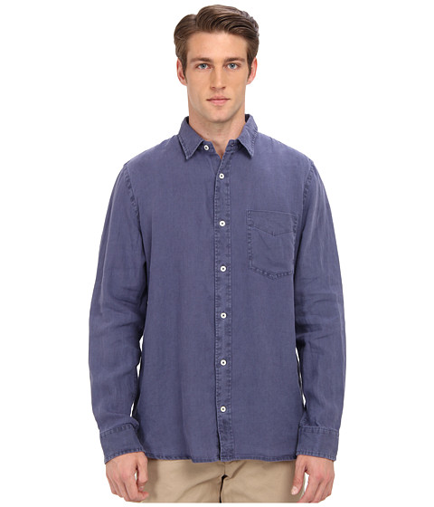 Jack Spade - Howard Linen Shirt (Navy) Men's Clothing