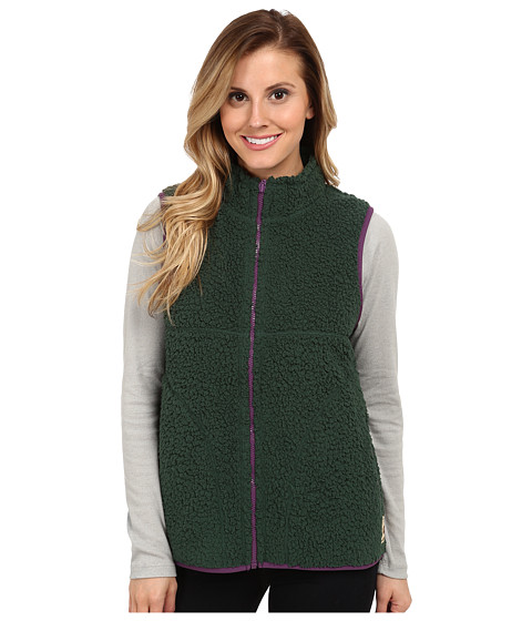 Life is good - Cozy Sherpa Vest (Woodsy Green) Women