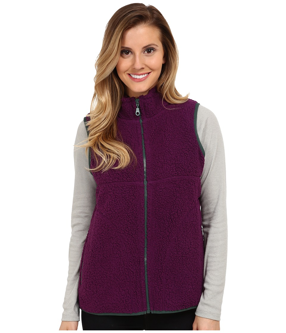 Life is good - Cozy Sherpa Vest (Perfect Plum) Women's Vest