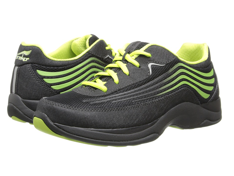 Dansko - Shayla (Black/Lime Smooth) Women's Walking Shoes