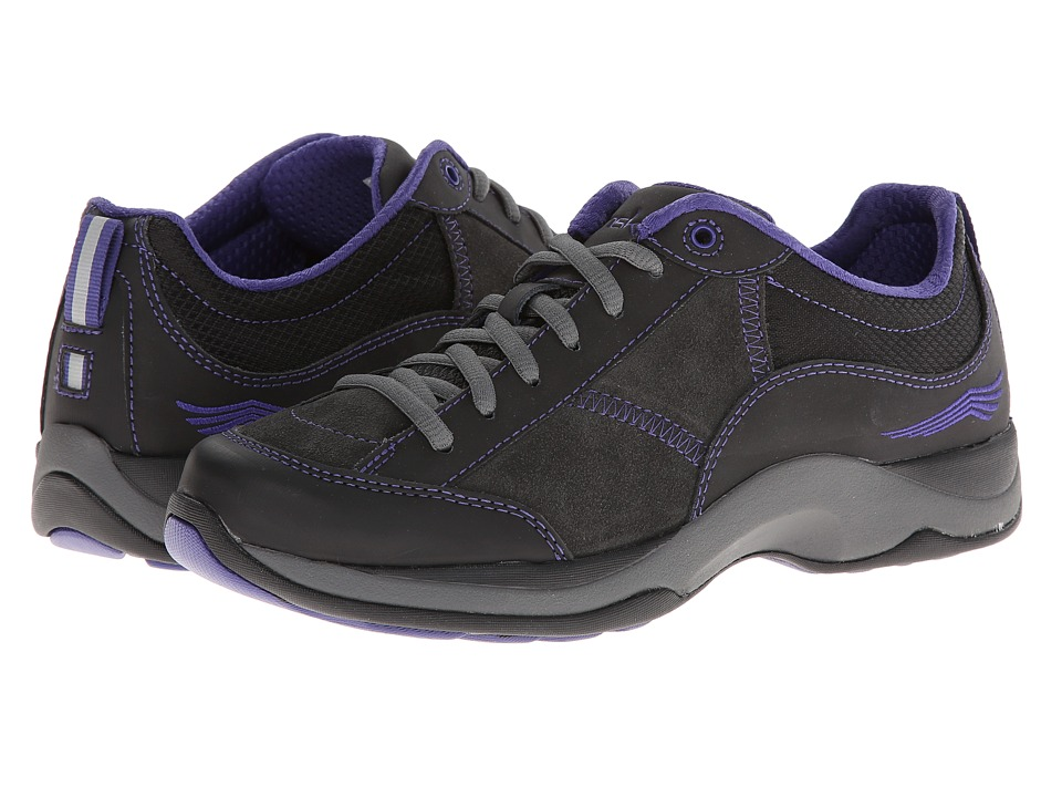 Dansko - Sabrina (Black/Violet Suede) Women's Lace up casual Shoes