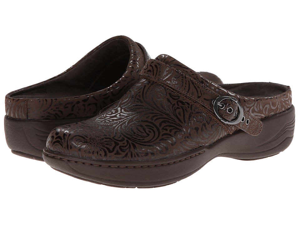 Dansko Allison (Brown Floral Emboss) Women