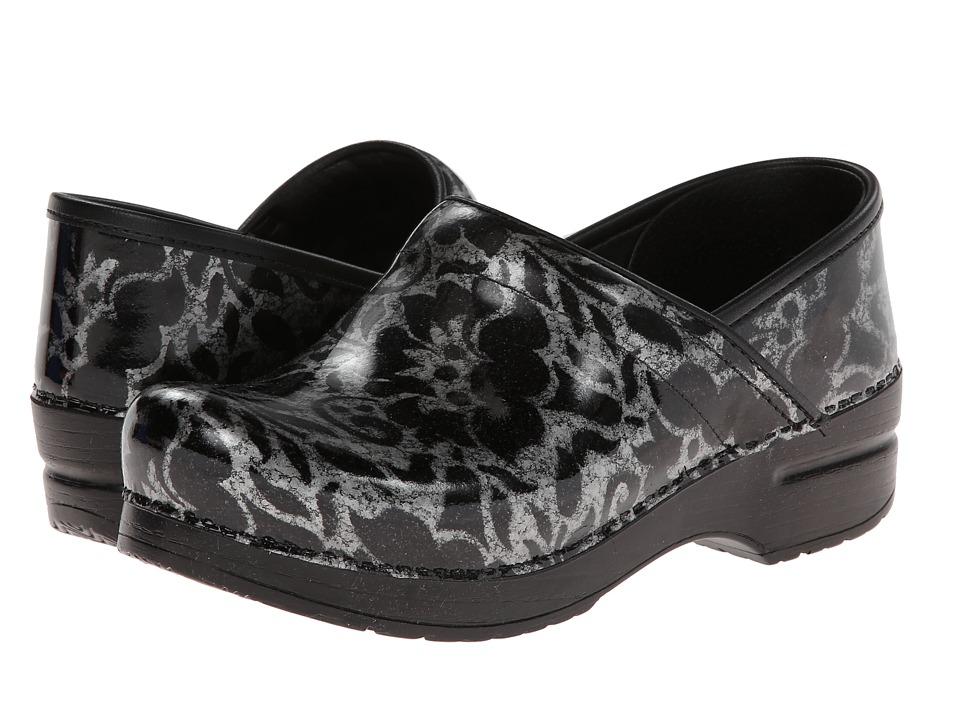 Dansko - Professional (Silver Floral Patent) Clog Shoes
