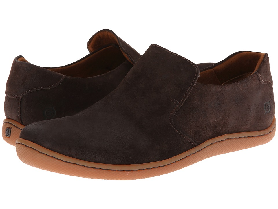 Born - Galen (Moka (Dark Brown) Suede) Men's Slip on Shoes