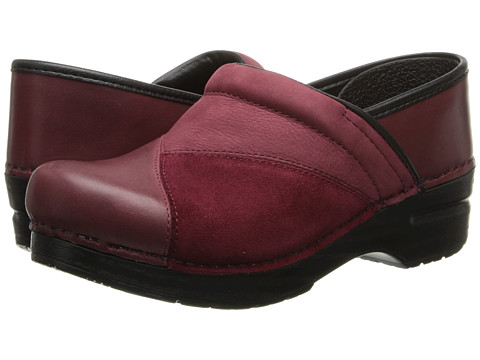 Dansko - Patchwork Pro (Cranberry) Women's Clog Shoes