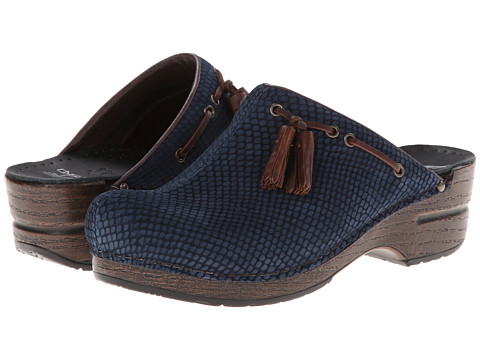 Dansko - Shannon (Blue Snake Nubuck) Women's Clog Shoes