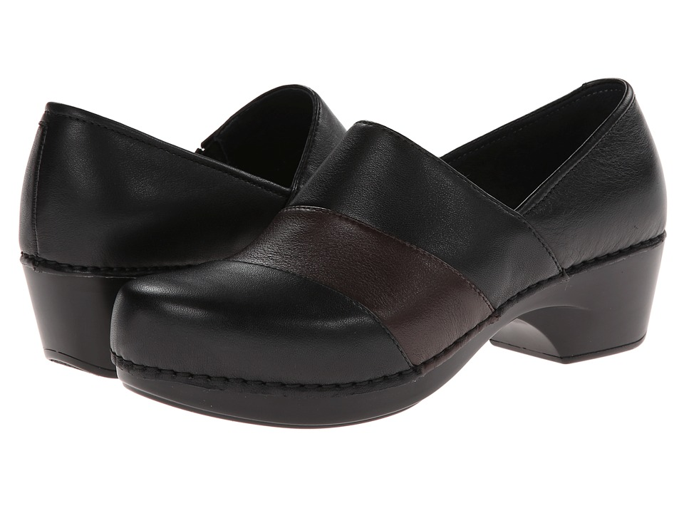 Dansko - Tenley (Black/Brown Nappa) Women's Clog Shoes