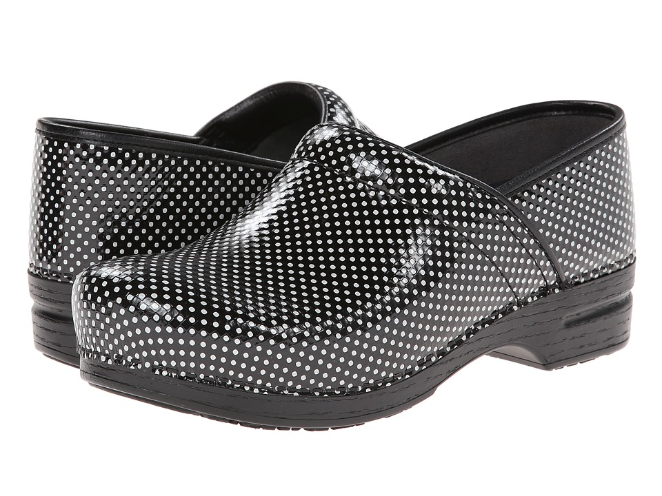 Dansko - Pro XP (Black/White Check Patent) Men's Clog Shoes