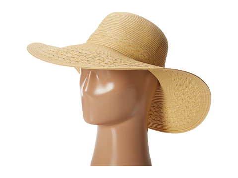Echo Design - Solid Braided Floppy Hat (Natural) Traditional Hats