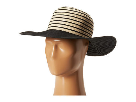 Echo Design - Skinny Stripe Straw Hat (Black) Traditional Hats