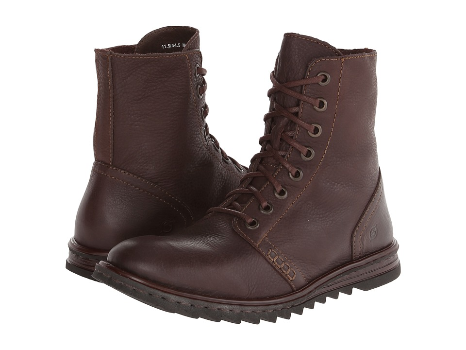 Born - Hudson (Brown Full-Grain Leather) Men's Lace-up Boots