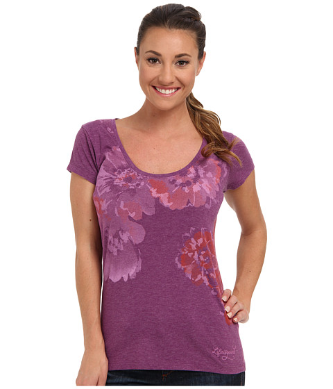 Life is good - Top Notch Scoop Neck Tee (Perfect Plum) Women's Short Sleeve Pullover