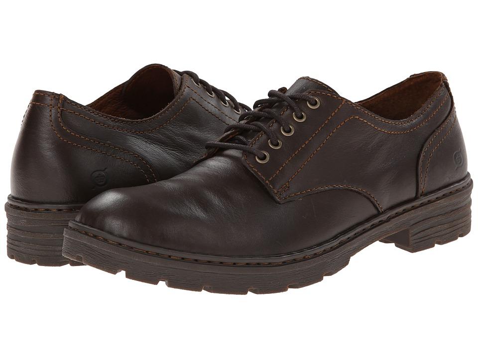 Born - Marlon (Barrel (Dark Brown) Full-Grain Leather) Men's Lace up casual Shoes