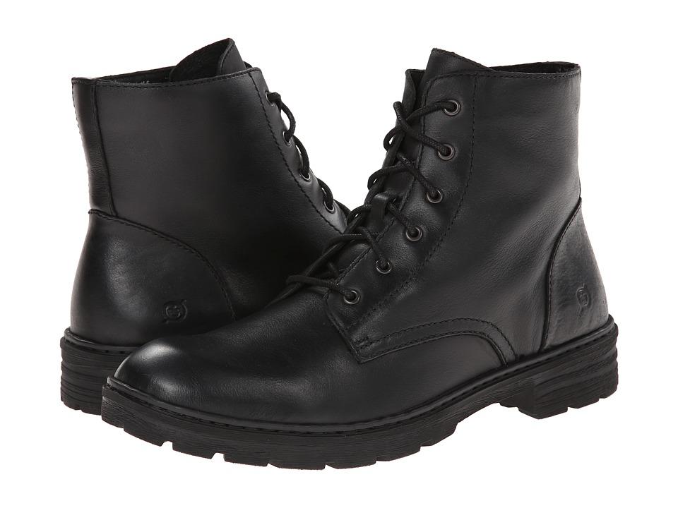 Born - Otis (Black Full-Grain Leather) Men's Lace-up Boots