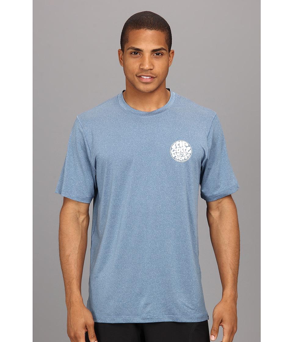 Rip Curl Wettie S/S Surf Shirt Mens Swimwear (Blue)