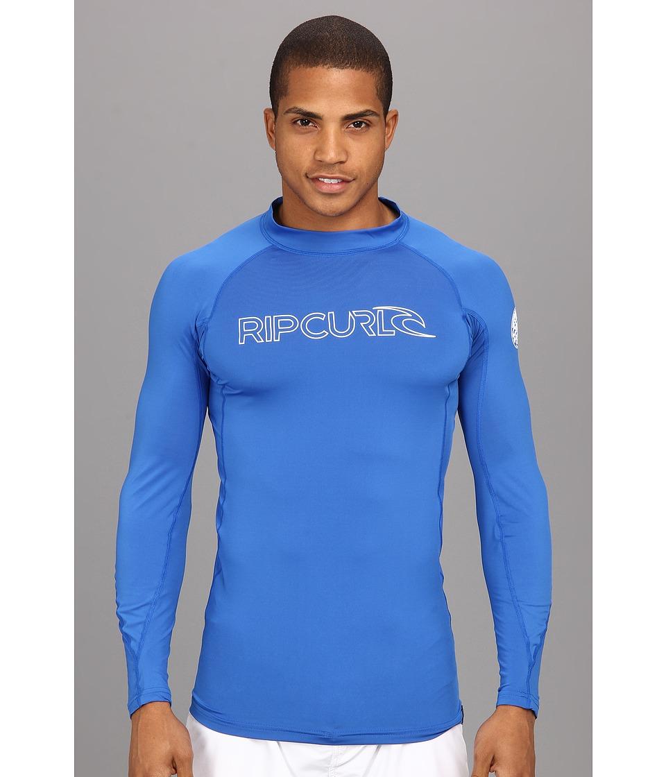 Rip Curl Freelite L/S Surf Shirt Mens Long Sleeve Pullover (Blue)