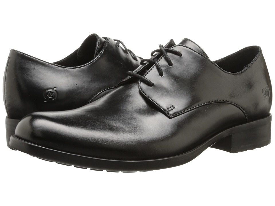 Born - Owen (Black Full-Grain Leather) Men's Plain Toe Shoes