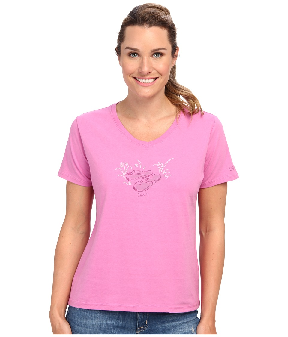 Life is good - Sleep Vee Tee (Washed Plum) Women