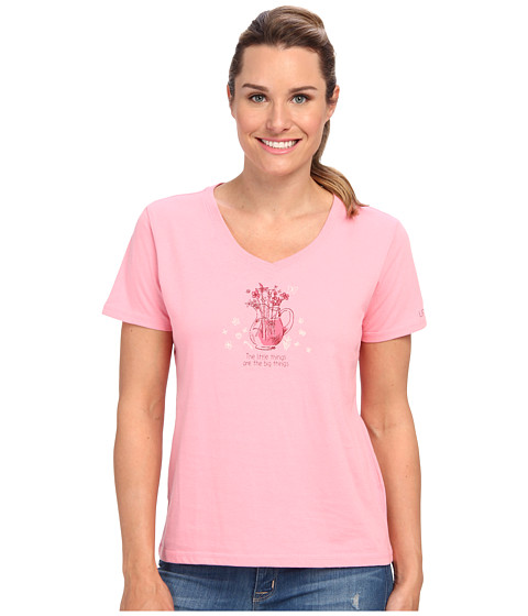 Life is good - Sleep Vee Tee (Blush Pink) Women's Pajama