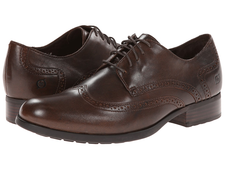 Born - Paulo (Cognac (Rust) Full-Grain Leather) Men's Lace Up Wing Tip Shoes