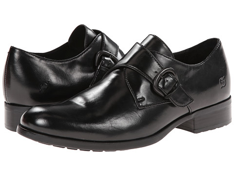 Born - Vallon (Black Full-Grain Leather) Men's Slip on Shoes