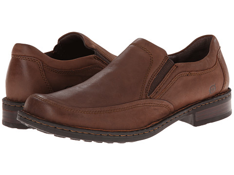 Born - Reubin (Chestnut (Dark Brown) Full-Grain Leather) Men's Slip on Shoes
