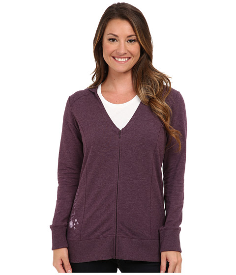 Life is good - Sleep Soft Hoodie (Heathered Deepest Plum) Women's Pajama