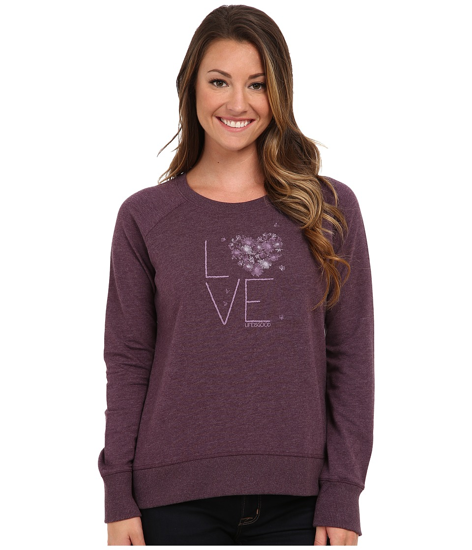 Life is good - Sleep Soft Pullover (Heathered Deepest Plum) Women's Pajama