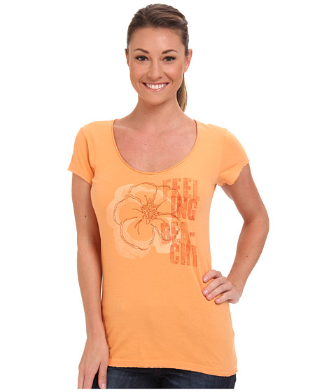 Life is good - Crusher Lightweight V-Neck Tee (Washed Orange) Women