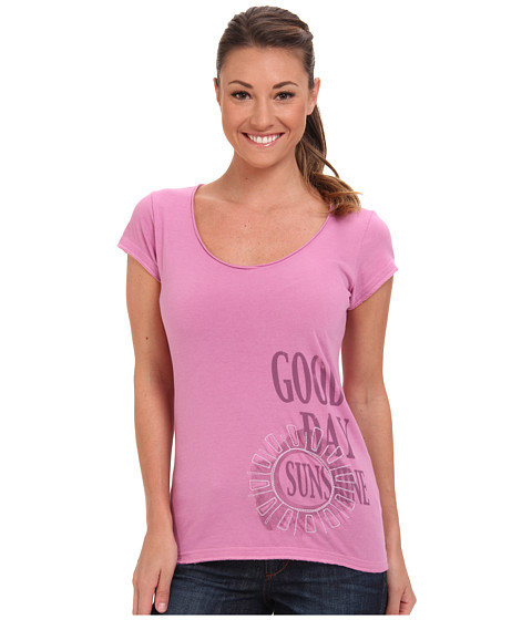 Life is good - Crusher Lightweight V-Neck Tee (Washed Plum) Women's T Shirt