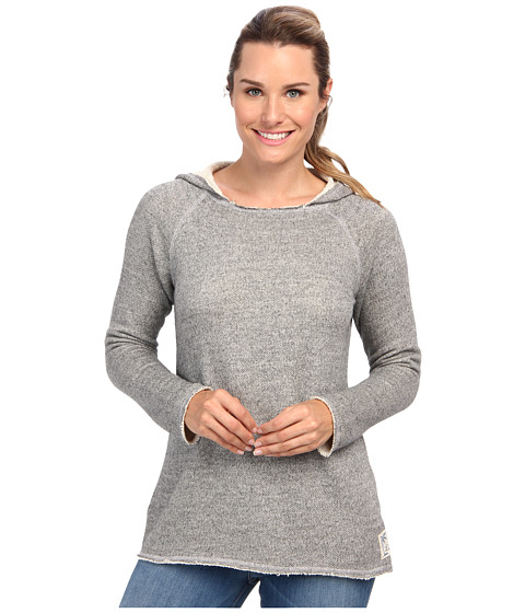 Life is good - Terry Beach Hoodie (Heather Gray) Women