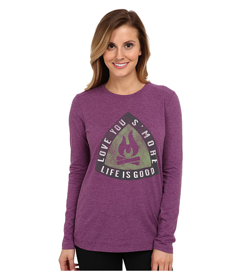 Life is good - Cool L/S Tee (Perfect Plum) Women's T Shirt