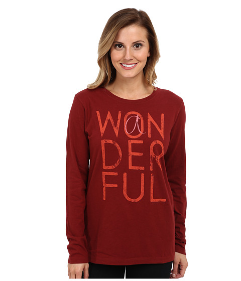Life is good - Best Day Ever Creamy L/S Tee (Fresh Cranberry) Women's T Shirt