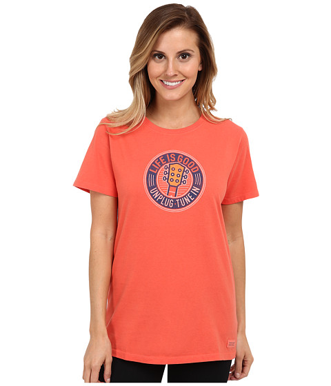 Life is good - Home Slice Crusher Tee (Heritage Tune In Guitar/Chili Red) Women's T Shirt