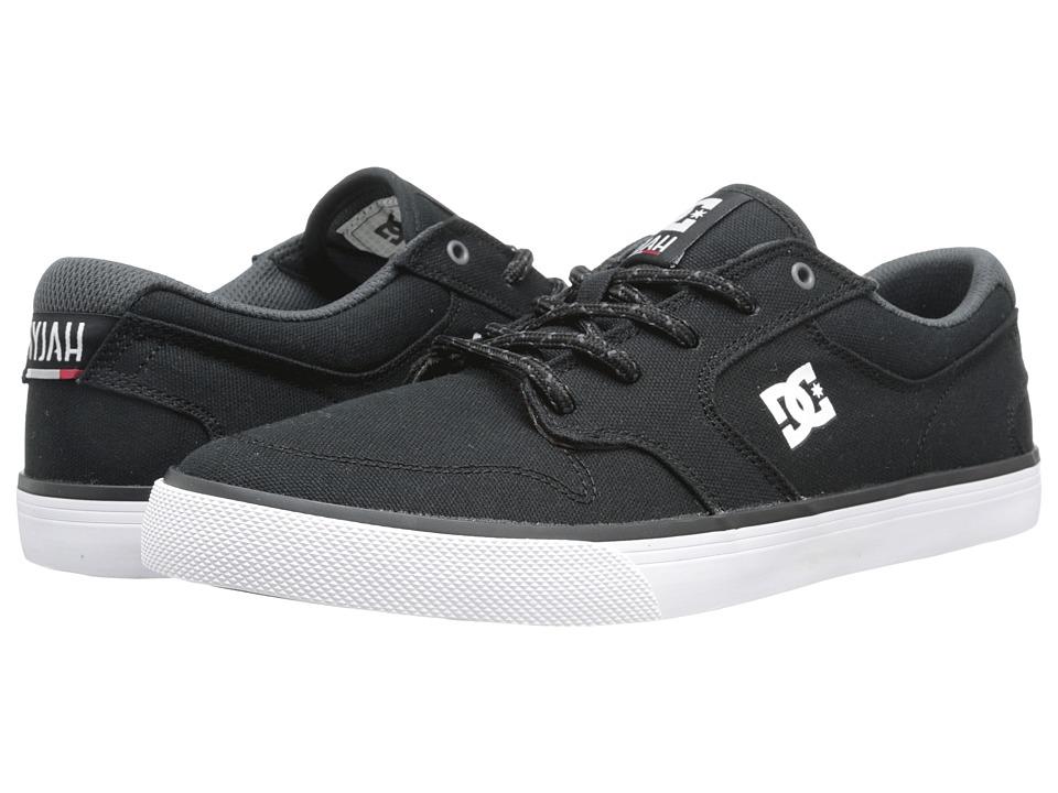 DC - Nyjah Vulc TX (Black/White) Men's Skate Shoes