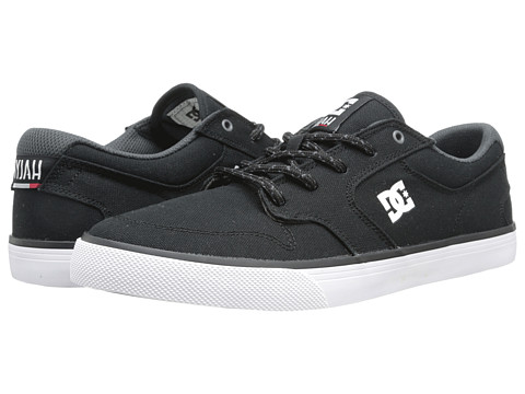 DC - Nyjah Vulc TX (Black/White) Men's Skate Shoes