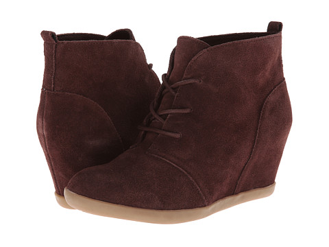 Minnetonka - Lace-Up Hidden Wedge (Chocolate Suede) Women