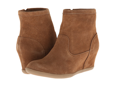 Minnetonka - Side Zip Hidden Wedge (Dusty Brown Suede) Women