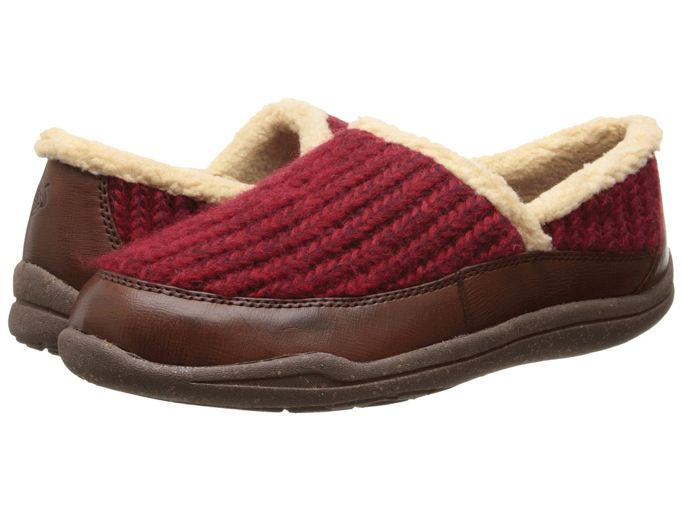 Acorn - WearAbout Moc with FirmCore (Cranberry) Women's Moccasin Shoes