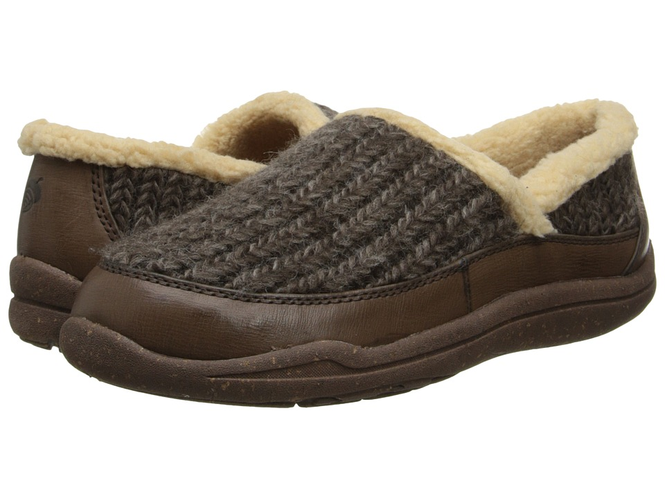 Acorn - WearAbout Moc with FirmCore (Greige Kid Skin) Women's Moccasin Shoes